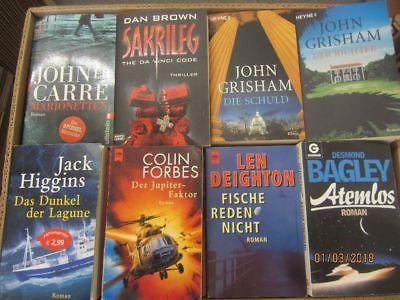 66 Bücher Romane Krimi Thriller Detektivromane Spionageromane