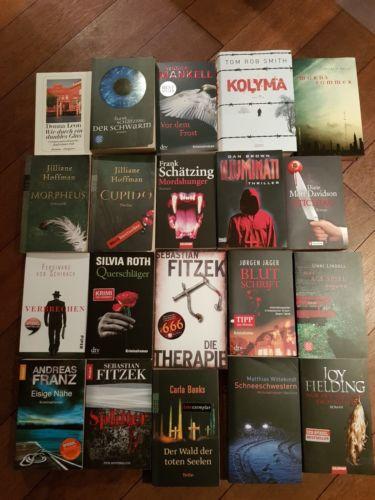 Thriller Krimi Paket Sammlung 20 Bücher Spannung Bestseller Fitzek Schirach etc