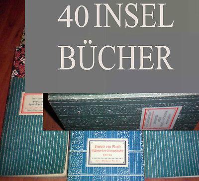 40 Bände Insel Bücherei IB Konvolut A WEITERE EINGESTELLT K 9, 6, 5, 1