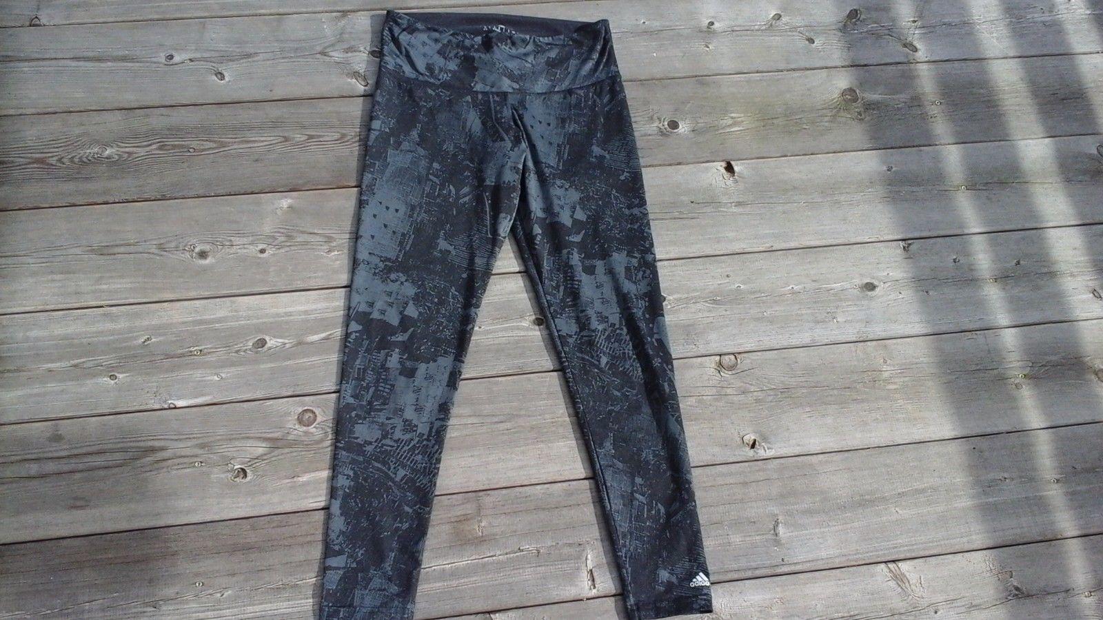 Laufhose von ADIDAS Sporthose Leggings climate S 36 38 fast NEU schwarz grau