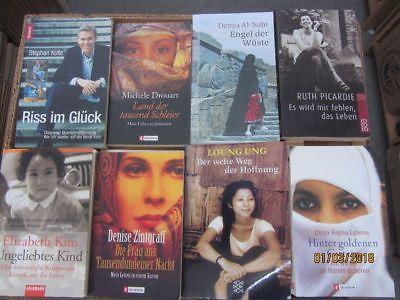 63 Bücher Schicksal Lebenstragödie Lebensgeschichte Biografie Autobiografie
