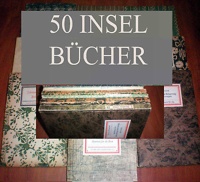 50 Bände Insel Bücherei IB Konvolut A WEITERE EINGESTELLT K 26, 23, 22, 14, 11
