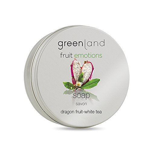 Greenland Handseife Drachenfrucht Weißer Tee | 100% Vegan & Ohne Tierversuche | Wohlduftende, Feste Handseife am Stück | Ideal für sensible Haut