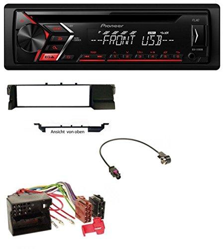 Pioneer DEH-S100UB USB MP3 AUX CD 1DIN Autoradio für BMW 3er E46 (Profiversion Quadlock)