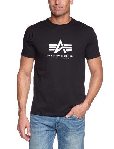 Alpha Industries Herren T-Shirt Basic T, Gr. XXX-Large, Schwarz (Black 03)