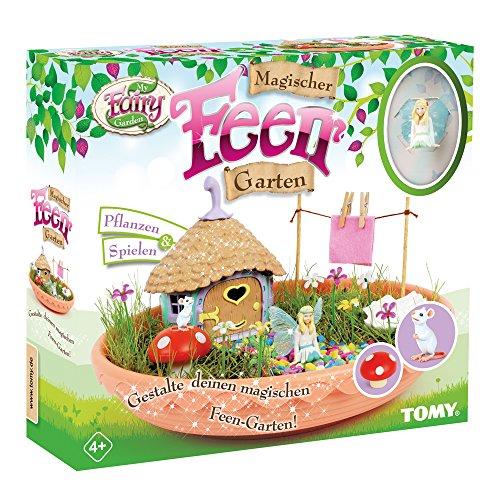 TOMY My Fairy Garden Spielzeugset - Magischer Feen-Garten für Kinder ab 4 Jahre zum selber Pflanzen & Spielen, 1 x Set Feen-Garten inkl. Grassamen