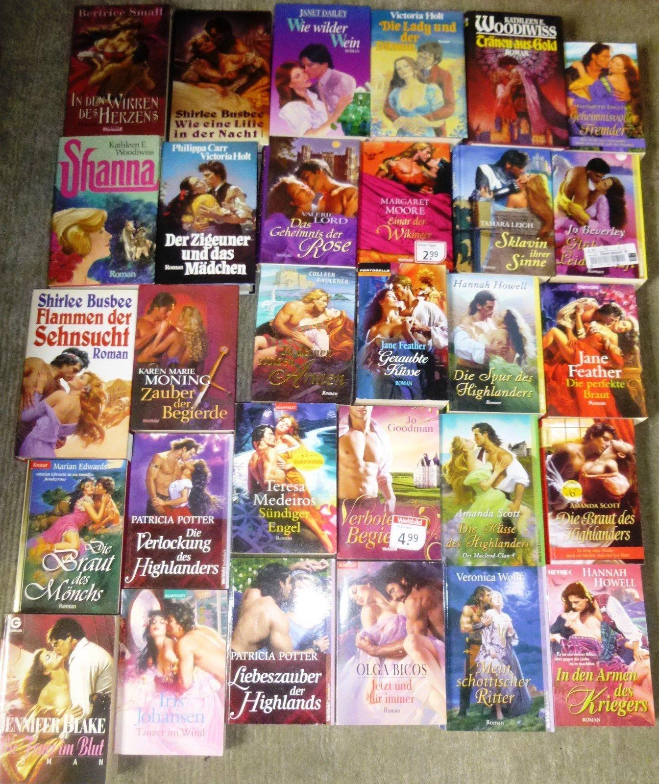 Liebesromane, 70 Bücher, div. Autoren/Verlage, Hardcover und Taschenbuch
