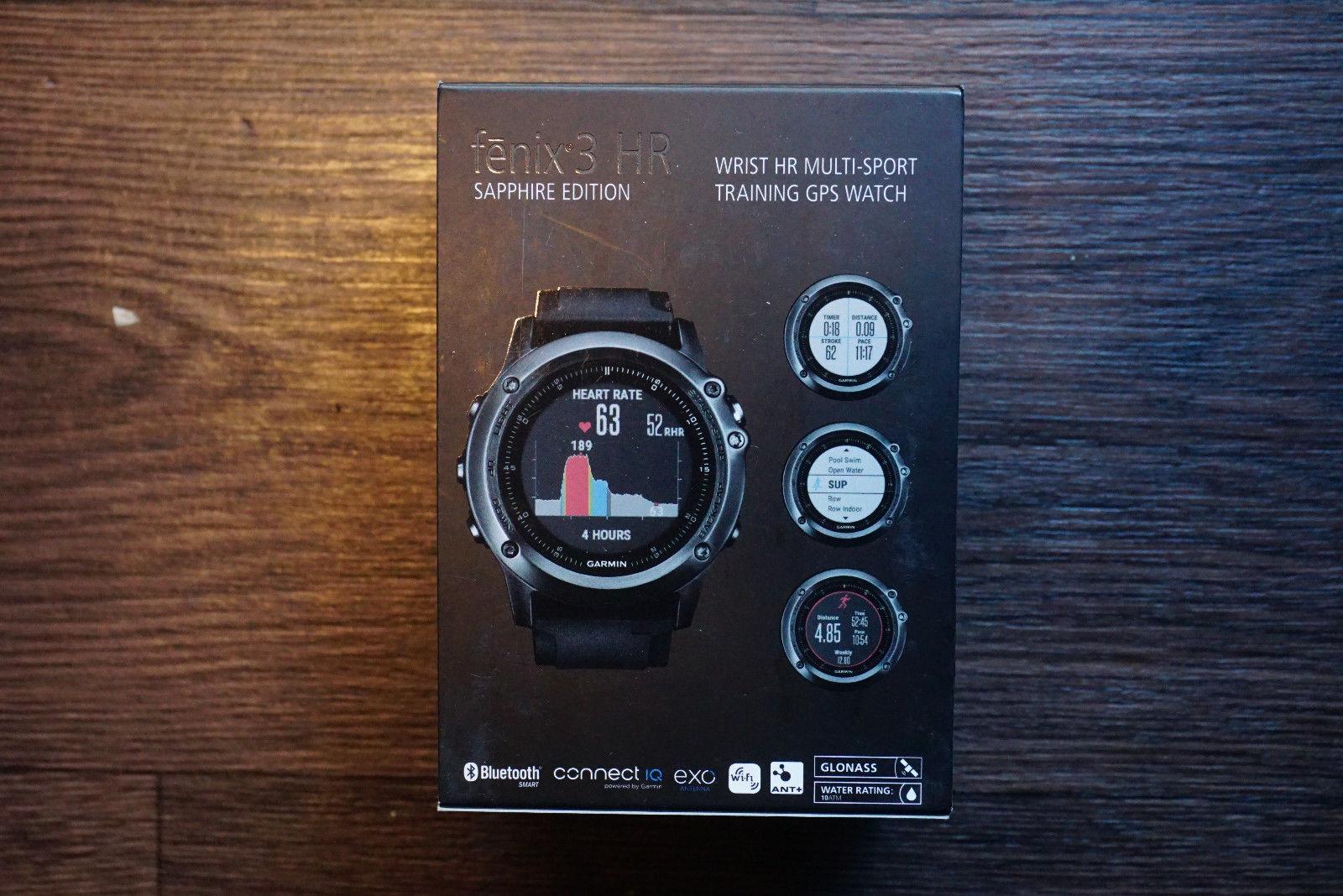 Garmin Fenix 3 HR Saphir GPS-Multisportuhr, Grau mit schwarzem Armband+++NEU+++