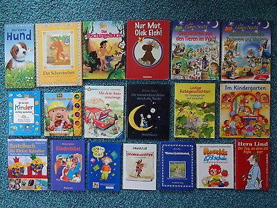 Bücherpaket 39 Kinderbücher CD Papp-Bilderbücher für kleine Kinder Janosch Conni