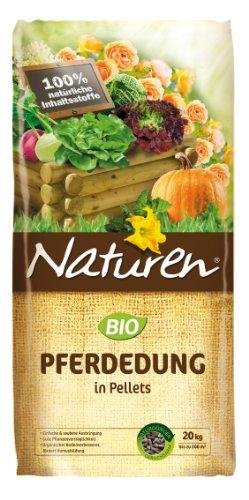 Naturen Bio Pferdedung - Anwendungsfertiger natürlicher Bodenverbesserer und Dünger - 20 kg für bis zu 200 m²