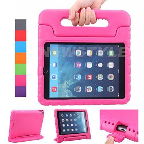 iPad Air 2 Hülle, iPad 6 Hülle, NEWSTYLE Superleicht EVA Stoßfest Kinder Ständer Schutzhülle umwandelbarer Handgriff kinderfreundlich Handle Tasche Kickstand Case Etui für Apple iPad Air 2/iPad 6,Rosa