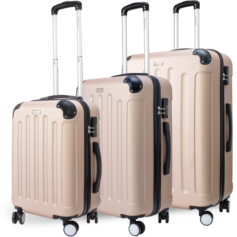 KESSER® 3tlg Reisekoffer Set Trolley Hartschale Hartschalenkoffer Koffer M-L -XL