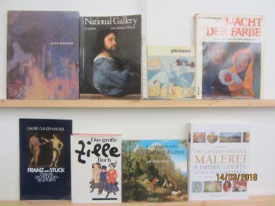 35 Bücher Bildbände Maler Malerei Künstler Gemälde Zille Picasso Richter u.a.
