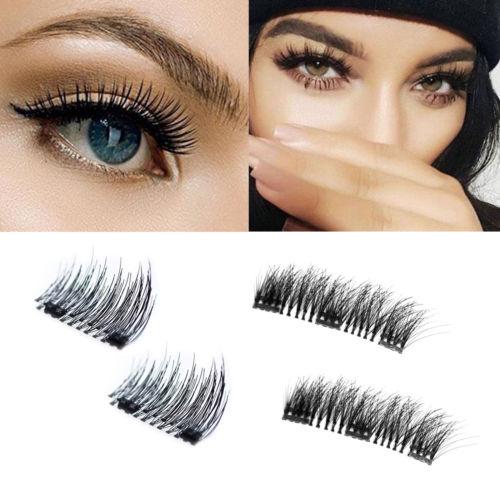 Magnetische Wimpern 3D Natürliche Verlängerung künstliche No-Kleber Eyelashes