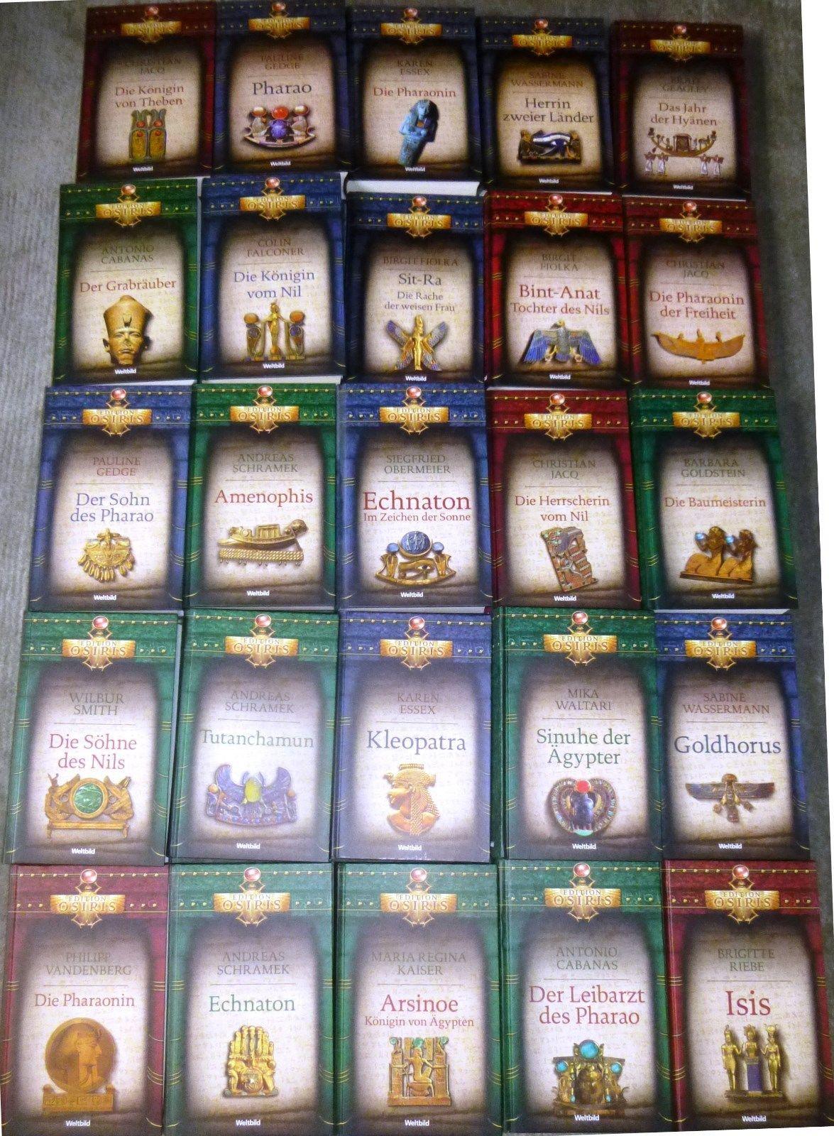 Historische Romane Ägypten, Edition Osiris, div. Autoren, 25 Romane, Weltbild,HC