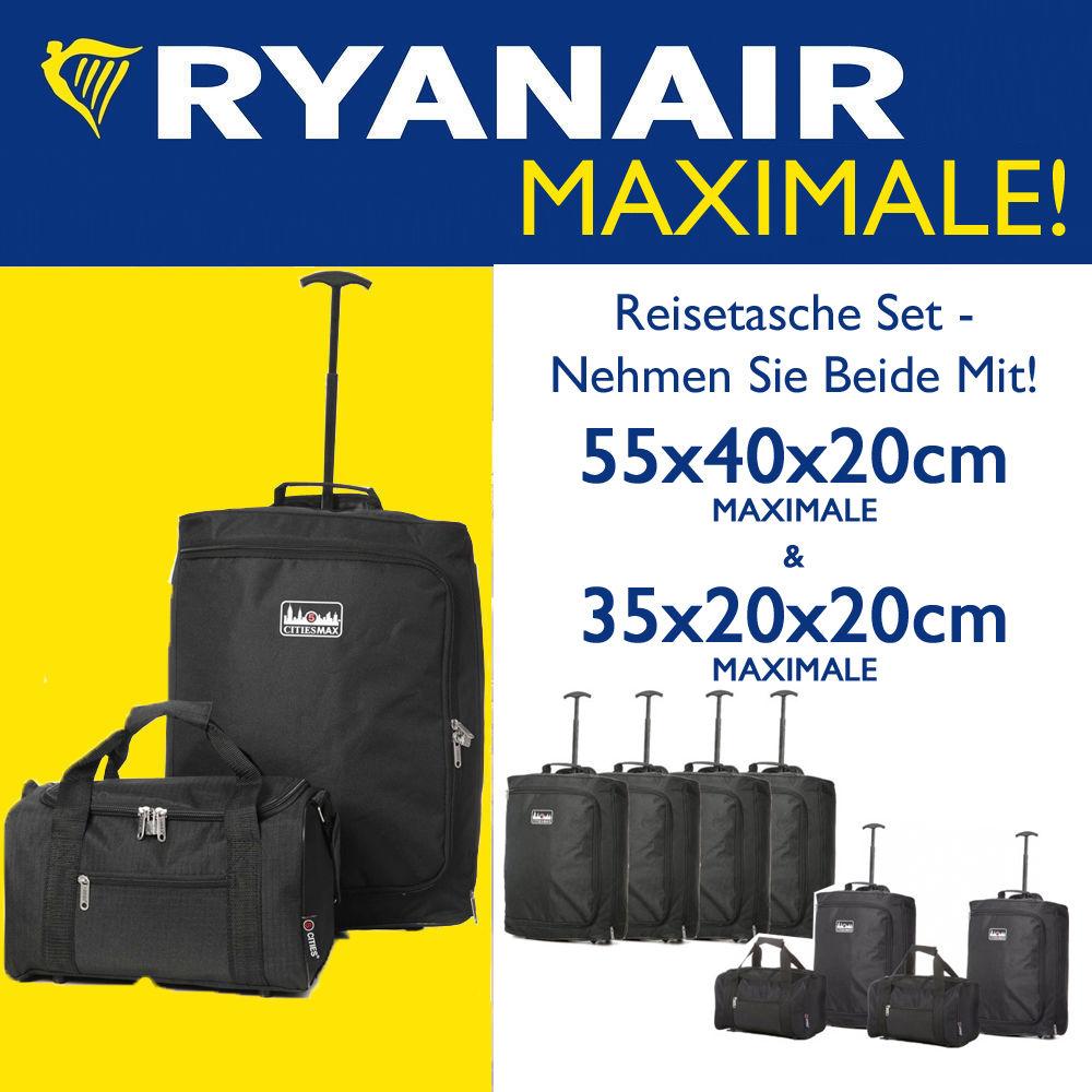 Ryanair 55x40x20cm & 35x20x20cm Maximale Handgepäck & Zweite Fortführen Bag Sets