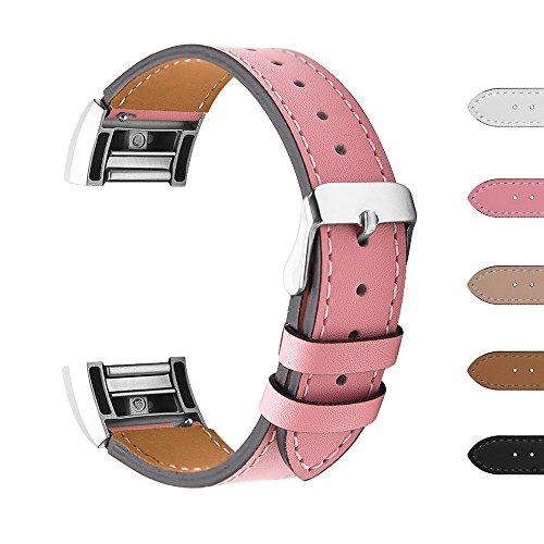Fitbit Charge 2 Ersatz Armbänd, BeneStellar Ersatz Milanese Band für Fitbit Charge 2 (Rosa, Large (6.5