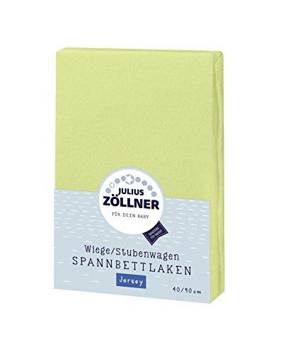Julius Zöllner 8330147540 Jersey Spannbetttuch für Wiegen 90x40 und Stubenwagen, Farbe: grün