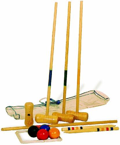 19-tlg. Krocket / Crocket Set aus Holz inkl. Zubehör, für Kinder ab 5 Jahren