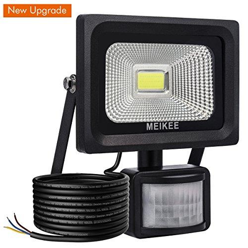 MEIKEE 10W LED Fluter Floodlight Strahler Licht Scheinwerfer Außenstrahler Wandstrahler Schwarz Aluminium IP65 Wasserdicht AC 85 - 265V tageslichtweiß