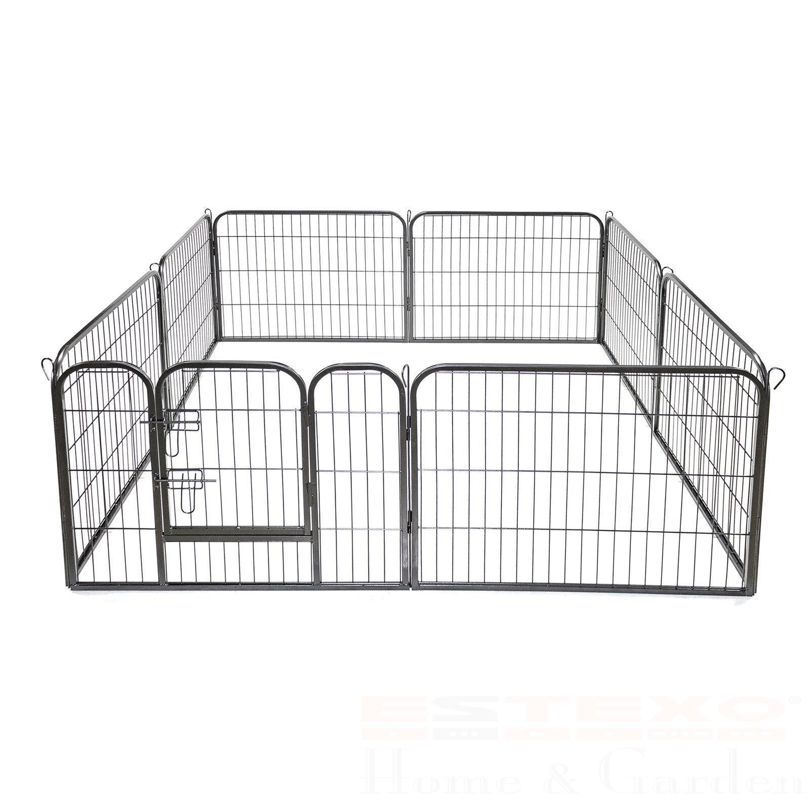 Welpenauslauf 8x 80x100cm Welpenzaun Welpen Freigehege Tierauslauf Hundeauslauf