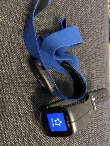 Polar M400 Schwarz mit Brustgurt H7 Blau