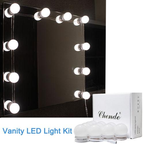 Waschtisch Spiegel LED Beleuchtungssatz für Hollywood Kosmetikspiegel mit Licht