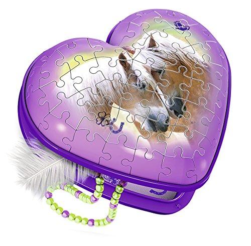 Ravensburger 3D-Puzzle 12119 Herzform - Pferde