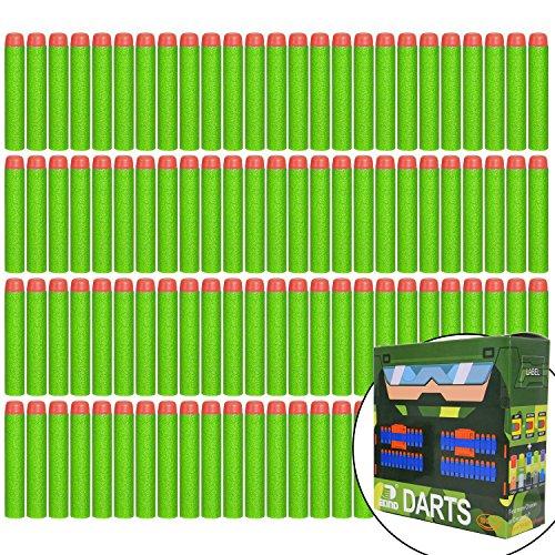 EKIND 100er 7.2cm Dart Für Nachfüll-Pack für alle NERF N-Strike Elite Blaster Spielzeugpistole (Grün)