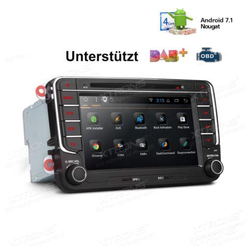 2Din Android 7.1 Autoradio GPS NAVI CD DVD BT 5.0 WIFI für VW Jetta Passat Polo