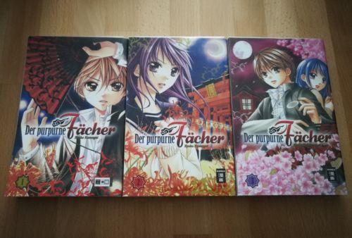 Der purpurne Fächer Manga Band 1-9 von Kyoko Kumagai