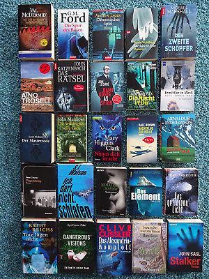 Bücherpaket 25 Krimis Thriller: Indridason Dürwald McDermid Cussler Saul Dexter