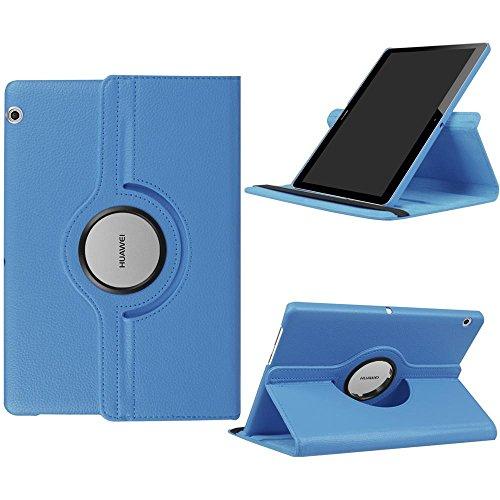 Huawei T3 10 Hülle Case,360° Drehbarer PU Leder Tasche Hülle Etui Schutzhülle für Huawei Mediapad T3 10.0 Zoll Tablet Case Cover Bookstyle Lederhülle mit Multi Ständer
