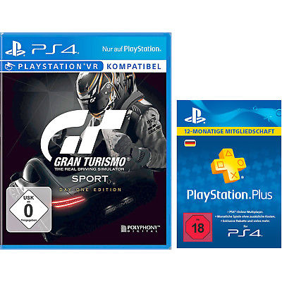 SONY Gran Turismo Sport Day 1 Edition + PlayStation Plus Card 12 Monate (für deu
