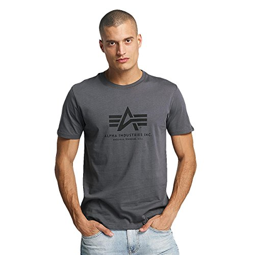 Alpha Industries Herren Oberteile/T-Shirt Basic Grau 4XL