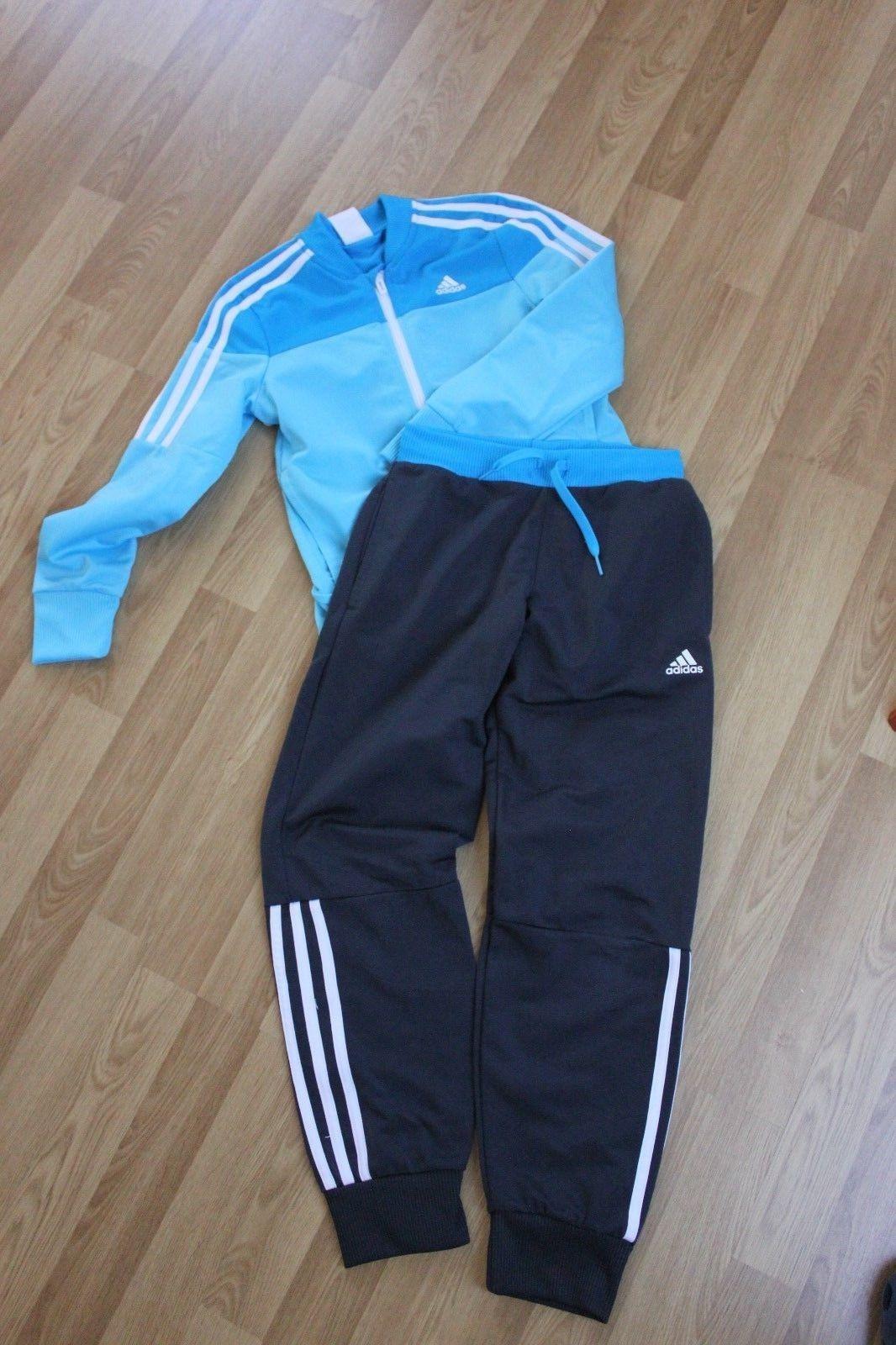 Adidas Jogginganzug Trainingsanzug Hose Jacke Gr. 140 (blau-töne)