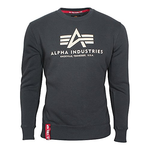 Alpha Industries Herren Oberteile / Pullover Basic grau 3XL
