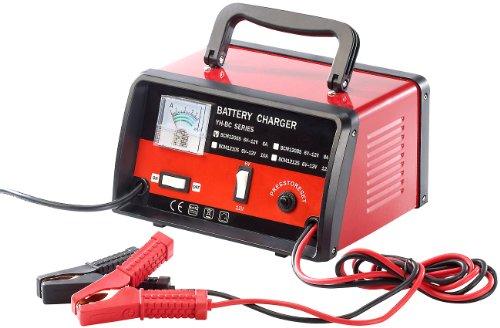 Lescars Kfz Batterie Ladegeräte: Automatisches Profi-Batterieladegerät für 6 V / 12 V, max. 6 A (Kfz Batterieladegerät)