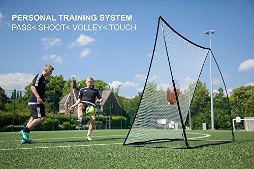 QuickPlay Fußball-Ballprallwand, 210 x 210 cm, mit Stahlbasis