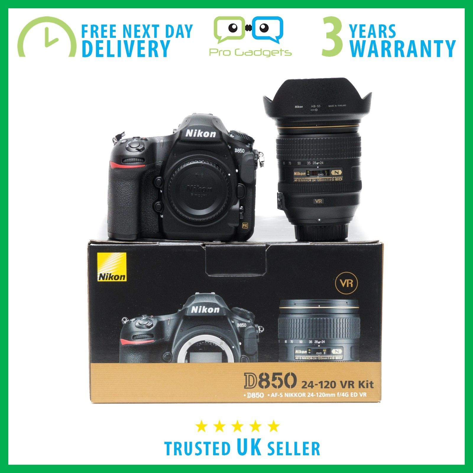 New Nikon D850 With Nikon Nikkor 24-120mm F/4.0 VR Lens - 3 Year Warranty