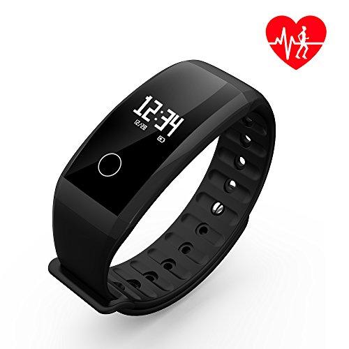 Fitness Tracker, Dawo Fitness Armbanduhr Wasserdicht Fitness Tracker HR mit Herzfrequenz / Schlafanalyse / Kalorienzähler / Aktivitäts Tracker Schrittzähler / Blutdruck und Blutsauerstoffgehaltmessung - Smart Fitness Armband Android IOS…