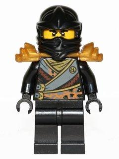 LEGO Ninjago: Minifigur Cole - Rebooted - mit Schulterrüstung und Schwert