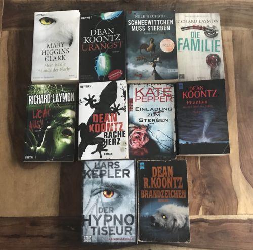 Bücherpaket Thriller Horror Laymon, Koontz