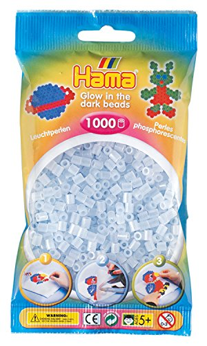 Hama 207-57 - Perlen im Beutel, ca. 1000 Stück, leuchtfarbe blau