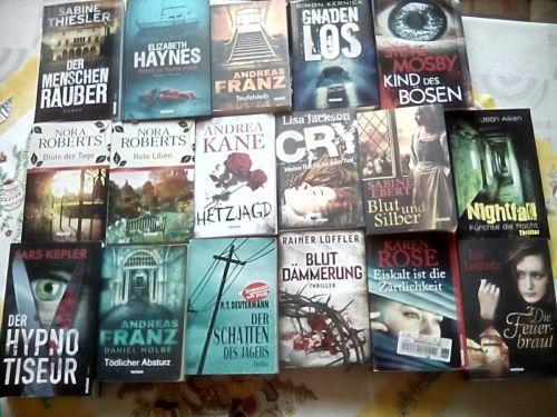 17 Romane- Krimi - Thriller - Bücherpaket° TOP!!!