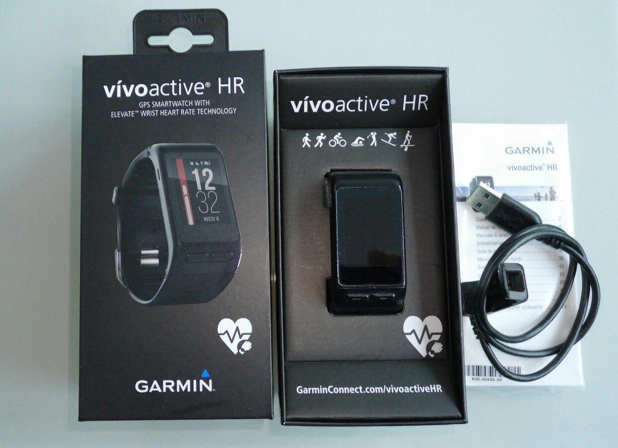 Garmin vivoactive HR Move IQ Sport-GPS-Smartwatch OVP mit zusätzlichem Armband