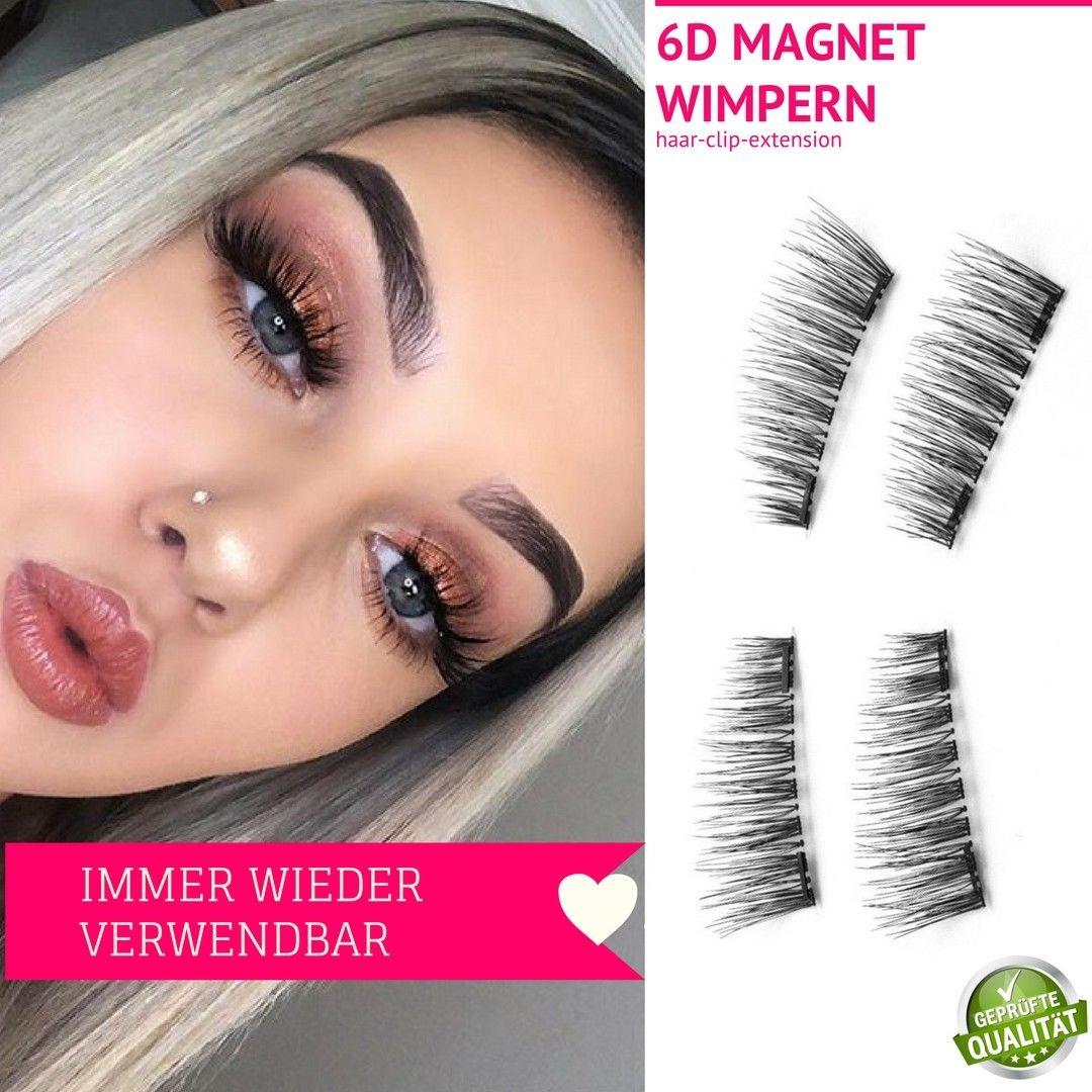 XXL 3D Magnet Wimpern mit 3 Magneten Magnetische künstliche Wimpern Eyelashes 1A