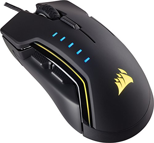 Corsair GLAIVE RGB Optisch Gaming Maus (RGB-LED-Hintergrundbeleuchtung, 16000 DPI) schwarz