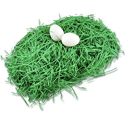 40gr. Ostergras Gras für Deko Dekoration an Ostern klassisch grün Osternest Nest Beutel für Ostereier Eier