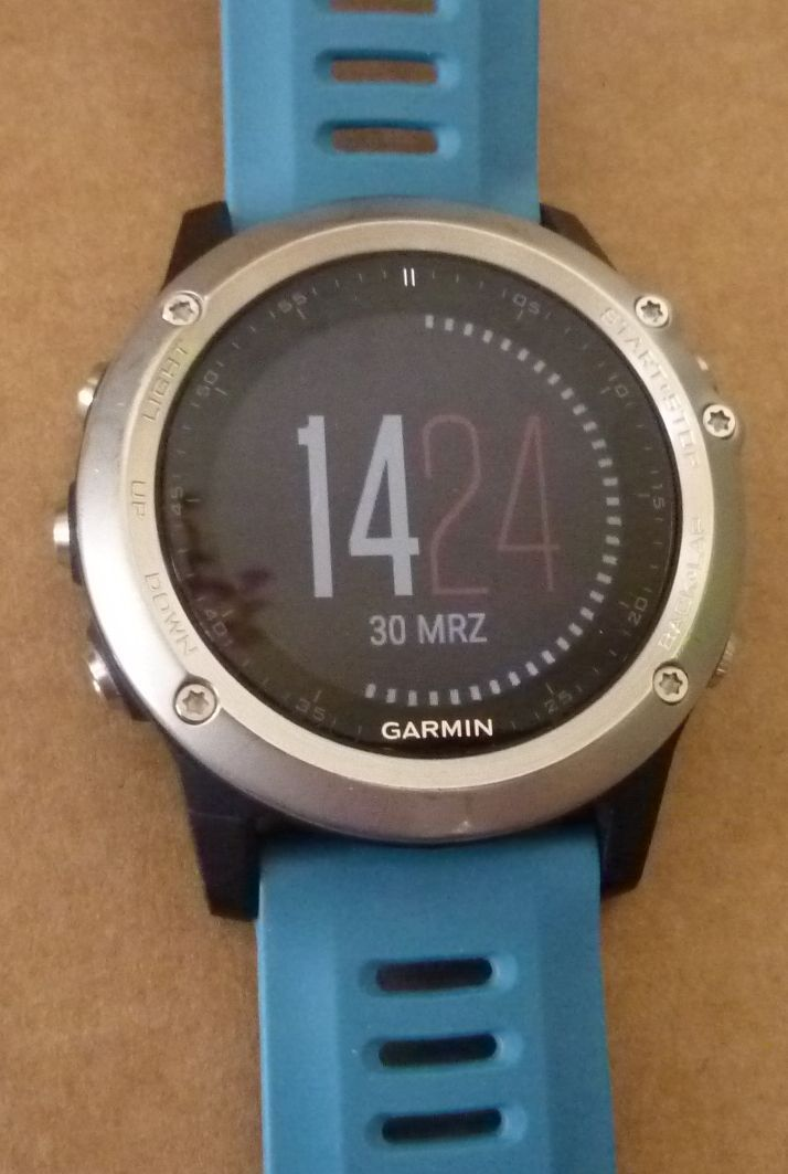 GARMIN fenix 3, silber, blaues Armband, GPS Super-Multisportuhr in OVP